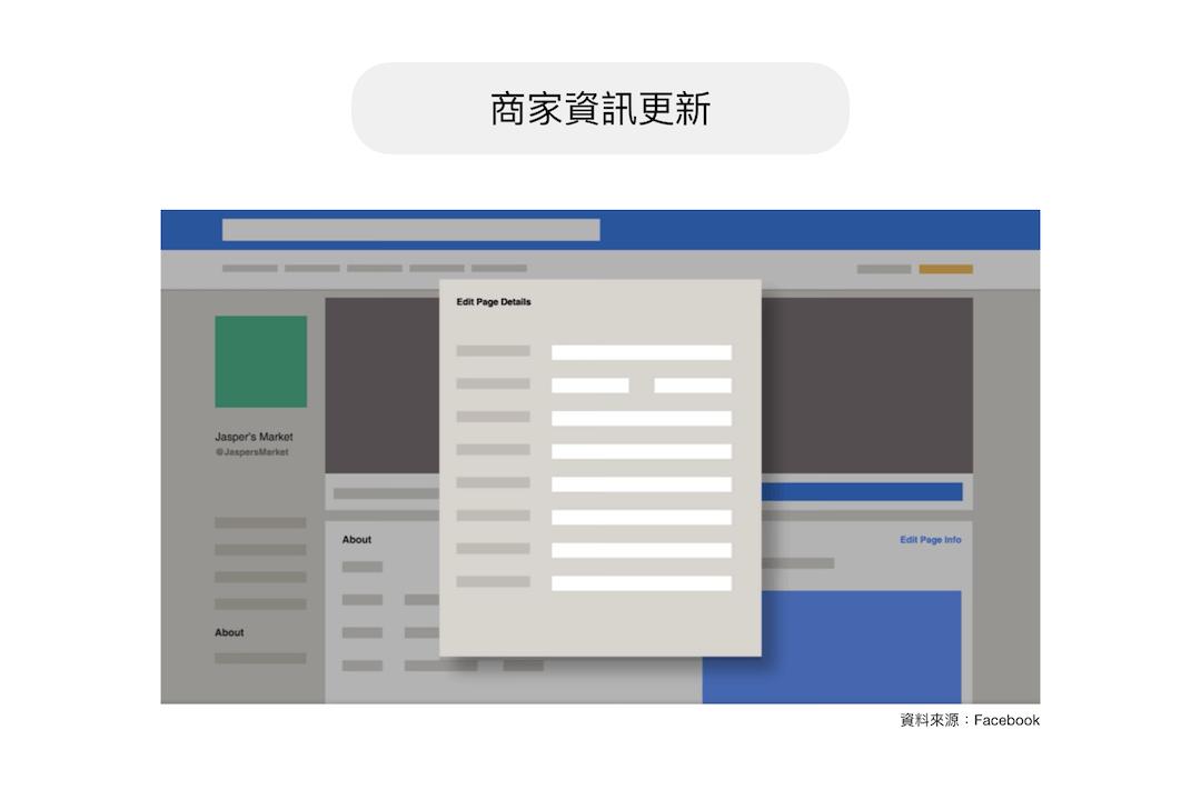 建議即時更新 Facebook 商家資訊